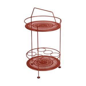 Červený zahradní barový stolek Fermob Montmartre, ⌀ 40 cm
