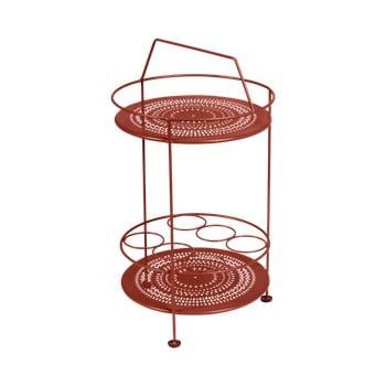 Masă tip bar pentru grădină Fermob Montmartre, ⌀ 40 cm, roșu