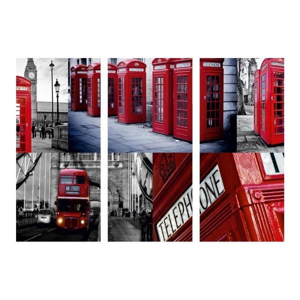 3dílný obraz Ach, ten Londýn