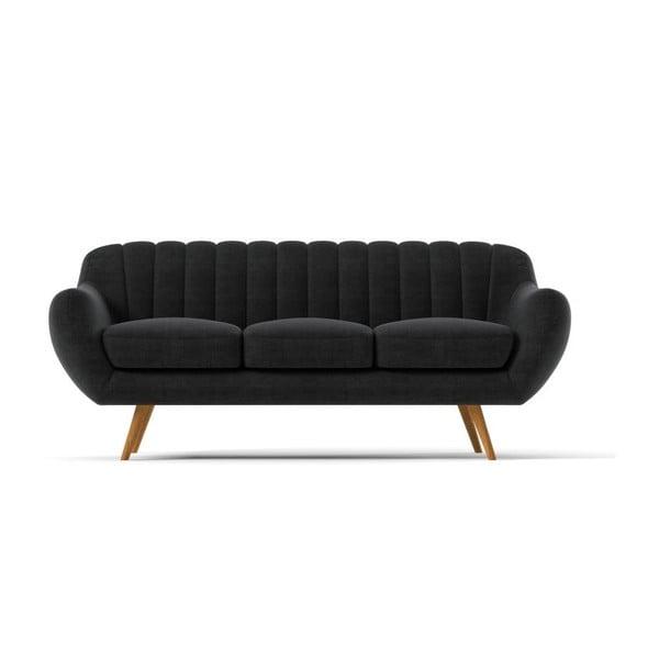 Sofa Azure pro tři, tmavě šedé