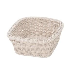 Košík Korb Quadra White, 19x19x7,5 cm