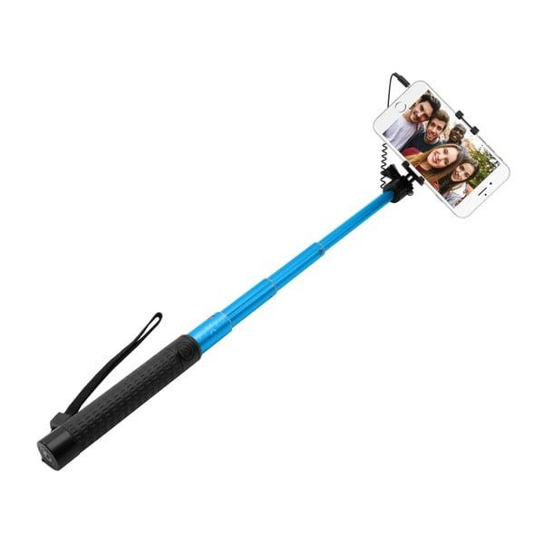 Teleskopický selfie stick FIXED, modrý