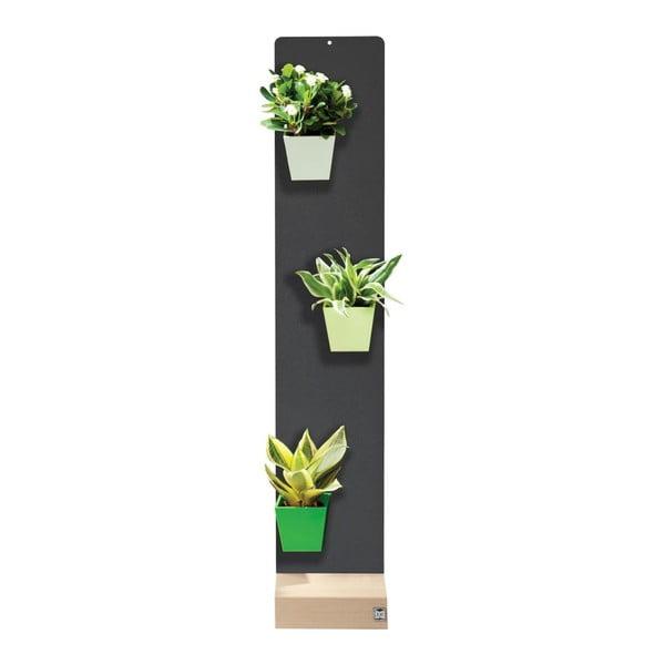 Podstavec pro magnetické květináče, černý, 14x70 cm