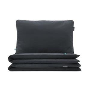 Černé bavlněné povlečení na jednolůžko Mumla, 160 x 200 cm