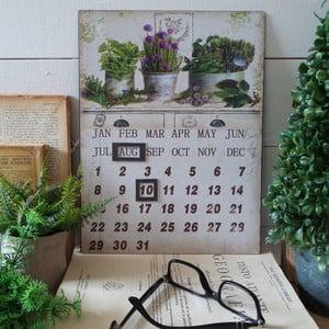 Stolní kovový kalendář Herbs