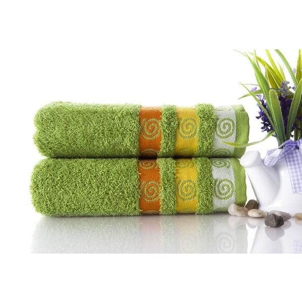 Set dvou ručníků Truva Green, 50x90 cm