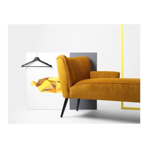 Hořčicově žlutá lenoška Custom Form Harry, levý roh