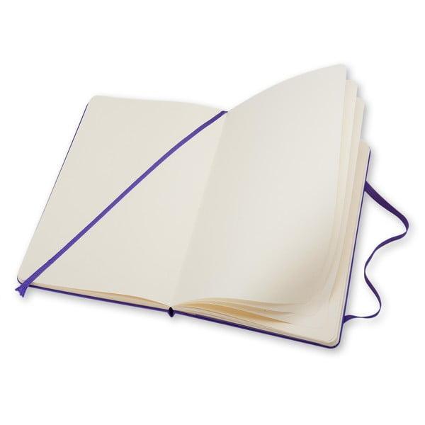 Velký fialový zápisník Moleskine Hard, bez linek