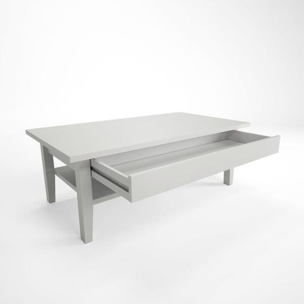 Bílý konferenční stolek z bukového dřeva Artemob