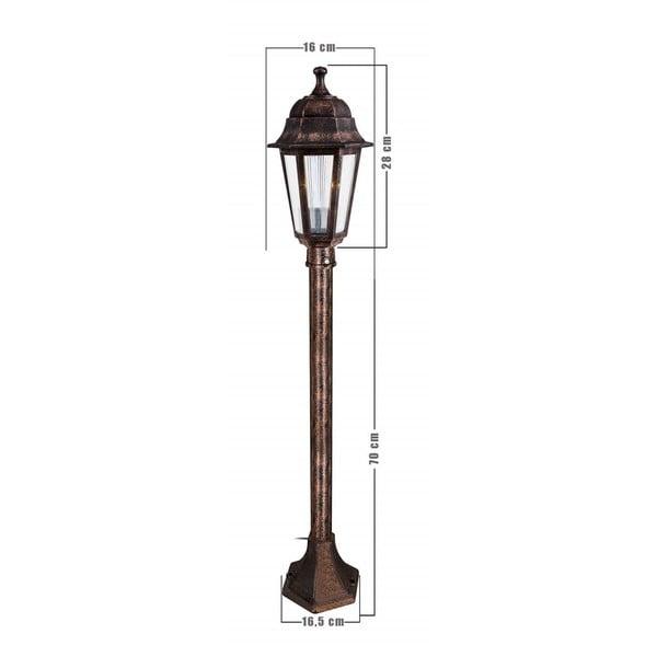 Corp de iluminat pentru exterior Lampas, înălțime 98 cm, arămiu