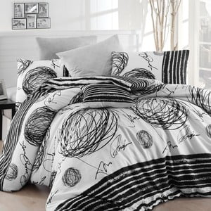 Lenjerie de pat cu cearșaf Blacky, 160 x 220 cm
