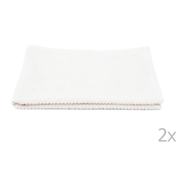 Sada 2 bílých froté ručníků Casa Di Bassi Stripe, 50x90cm