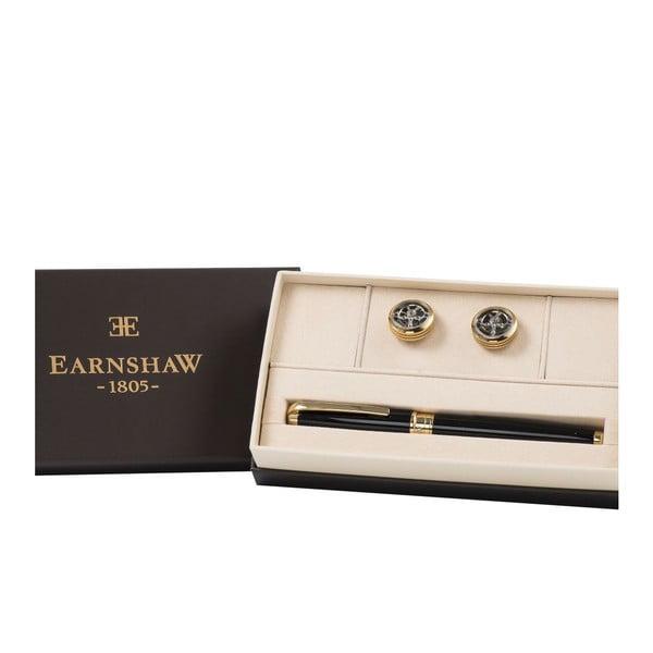 Set kuličkového pera a manžetových knoflíčků Thomas Earnshaw Gold