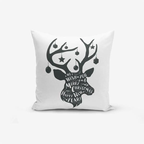 Față de pernă Minimalist Cushion Covers Christmas Deer, 45 x 45 cm
