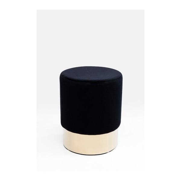 Černá stolička Kare Design Cherry, ∅35cm