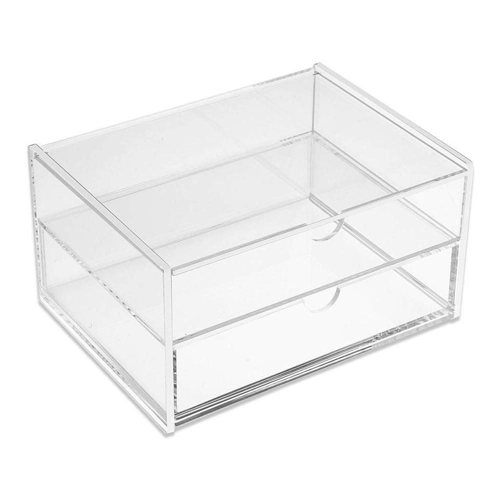 Úložný box se 2 zásuvkami Versa Double White Box