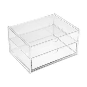 Dvojitá průhledná krabička Versa Double White Box