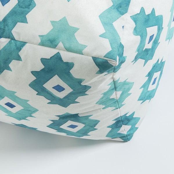 Tyrkysový vzorovaný puf La Forma Alborg,45x45cm