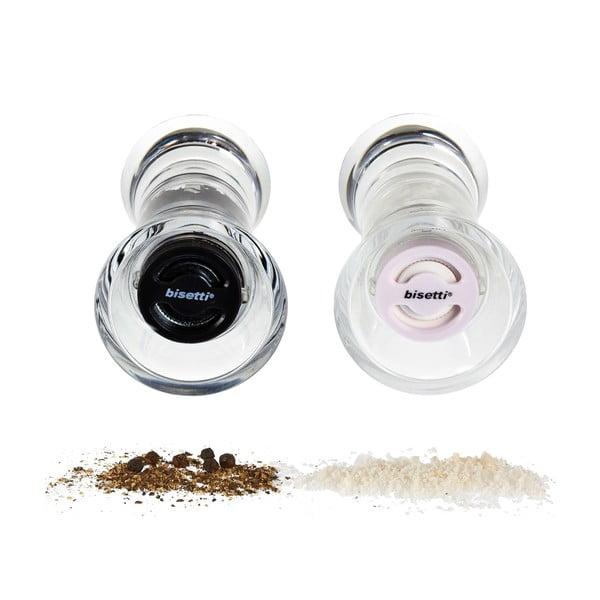 Set 2 râșnițe pentru sare și piper Bisetti Pepper&Salt, 13 cm