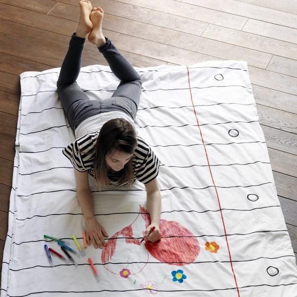 Povlak na peřinu k vymalování Doodle, 200x200 cm