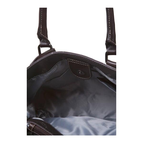 Kožená kabelka do ruky Canguru Tag, hnědá