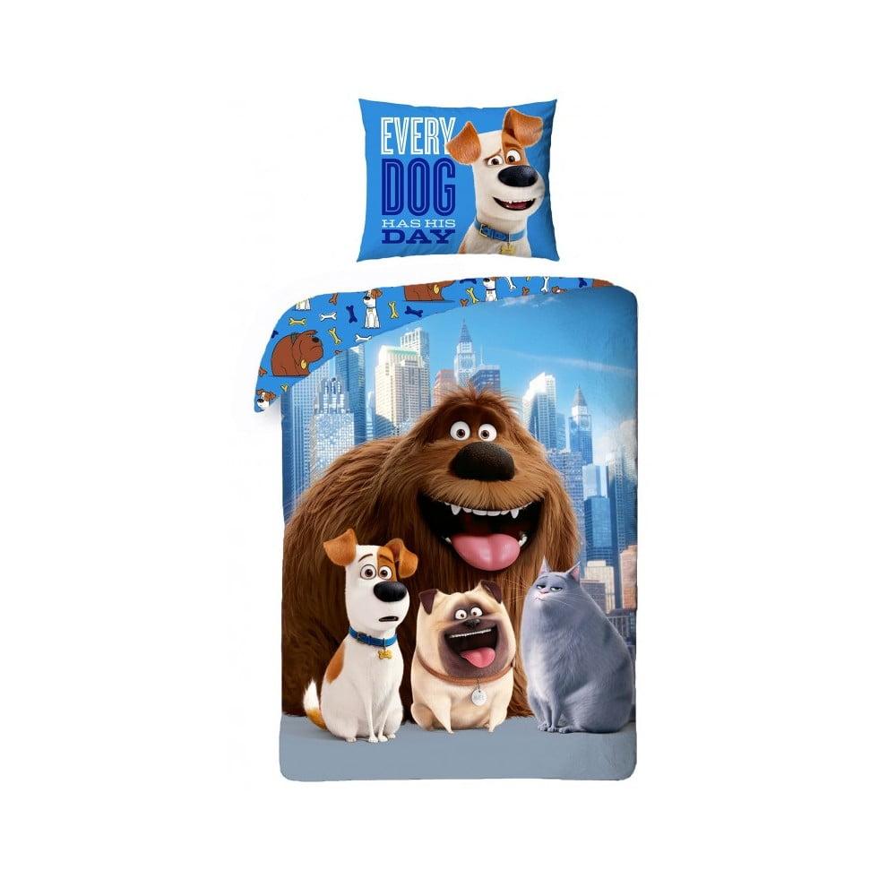 Dětské bavlněné povlečení Halantex The Secret Life of Pets Dogs, 140 x 200 cm