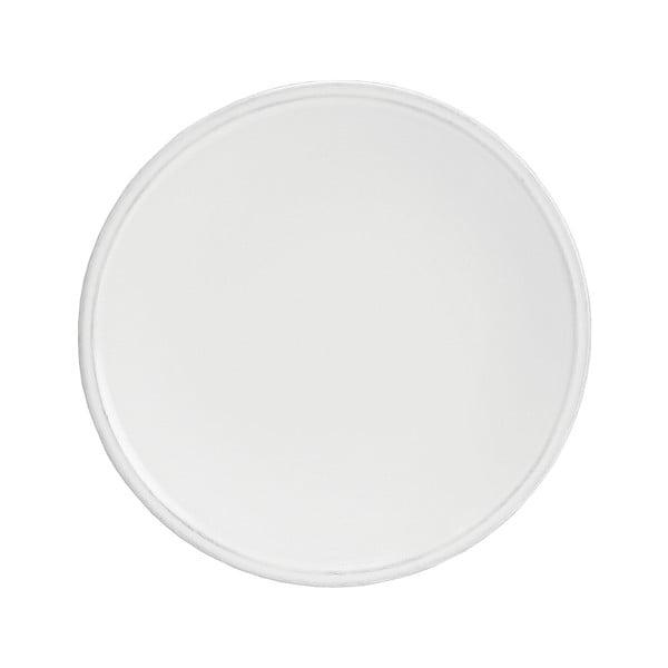 Bílý kameninový dezertní talíř Costa Nova Friso, ⌀22cm