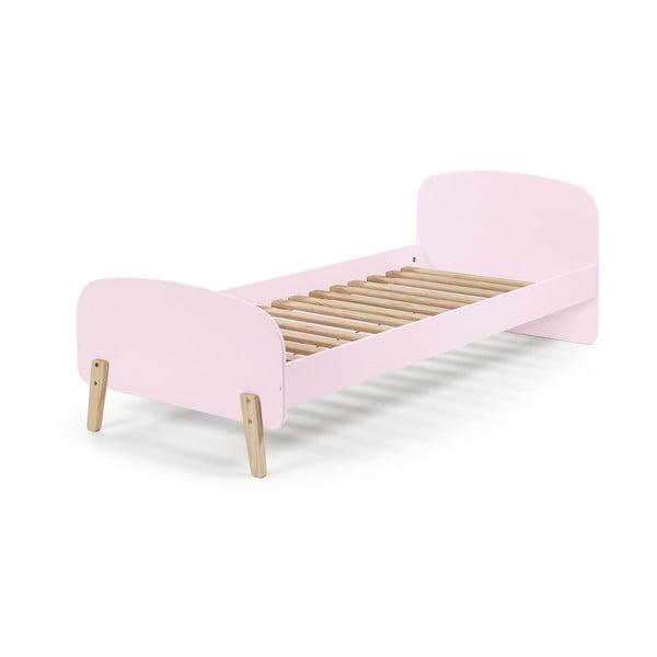 Růžová dětská postel Vipack Kiddy, 200 x 90 cm