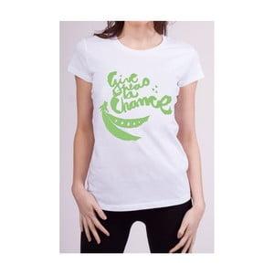Dámské tričko s krátkým rukávem KlokArt Give Peas, vel. S