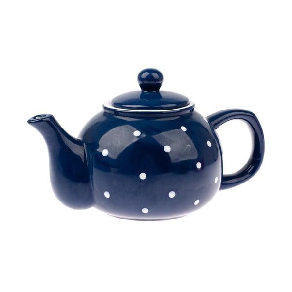Niebieski dzbanek ceramiczny Dakls Dots, 1 l