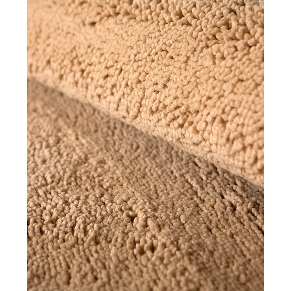 Vlněný koberec Pradera, 60x120 cm, béžový