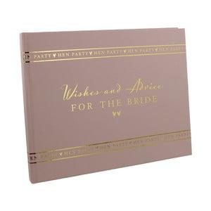 Kniha pro hosty nevěstiny rozlučky se svobodou Amore Wishes and Advice