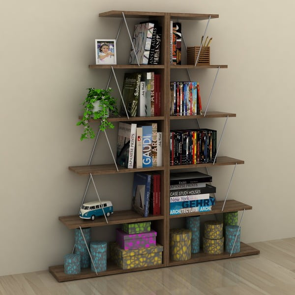 Knihovna v dekoru ořechového dřeva Rafevi Tars Mini
