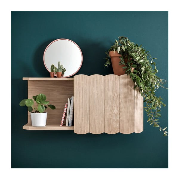 Police na zeď z bukového dřeva HARTÔ, délka 74 cm