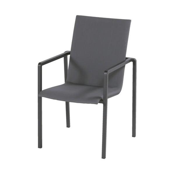 Tmavosivá záhradná jedálenská stolička Hartman Annecy