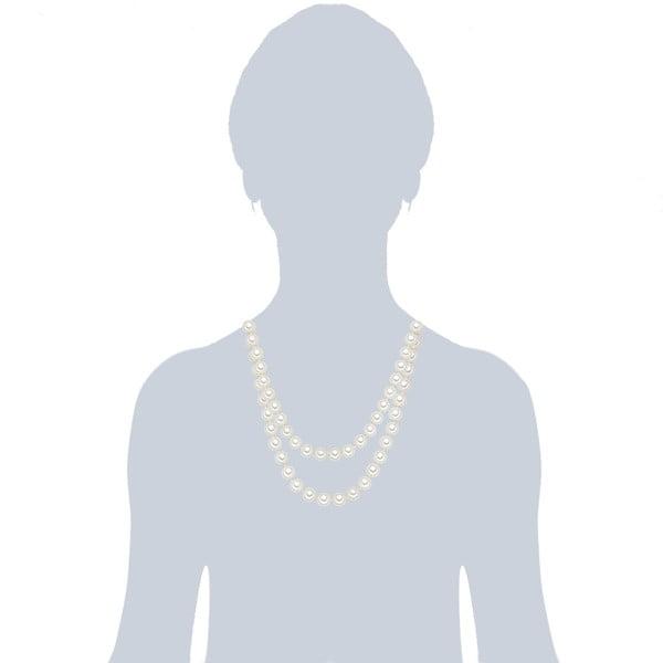 Náhrdelník s bílými perlami ⌀10 mm Perldesse Muschel, délka 120 cm