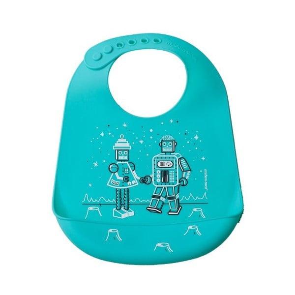 Dětský bryndáček Robot Love, Turquoise