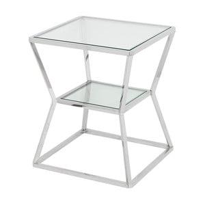 Odkládací stolek ve stříbrné barvě Artelore Ascari