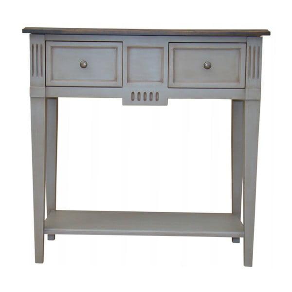 Odkládací stolek se 2 zásuvkami Transilvania Belgique Grey