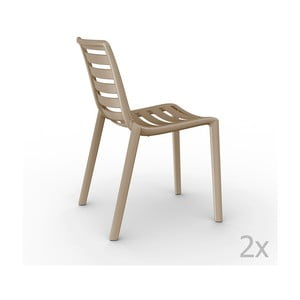 Sada 2 béžových  zahradních židlí Resol Slatkat