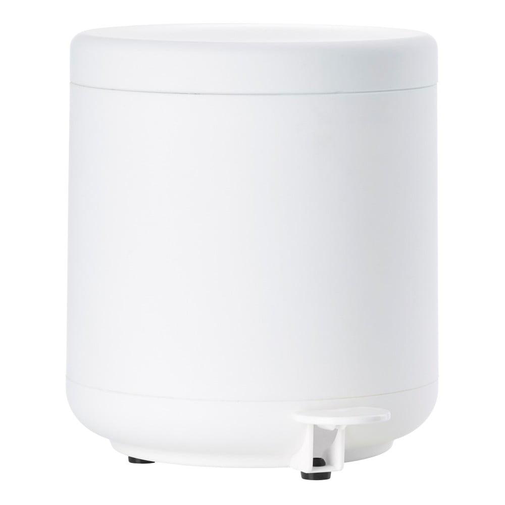 Bílý koupelnový odpadkový koš s pedálem Zone UME, 4l