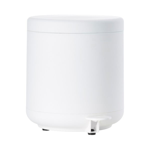 Biely kúpeľňový odpadkový kôš s pedálom Zone UME, 4 l