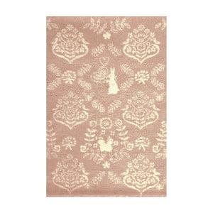 Růžový koberec Art For Kids Rabbit,135x190cm