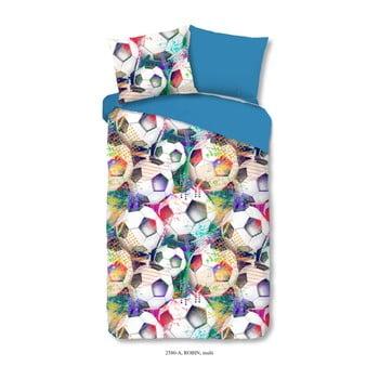 Lenjerie de pat din bumbac pentru copii Good Morning Robin Multi, 140 x 200 cm imagine