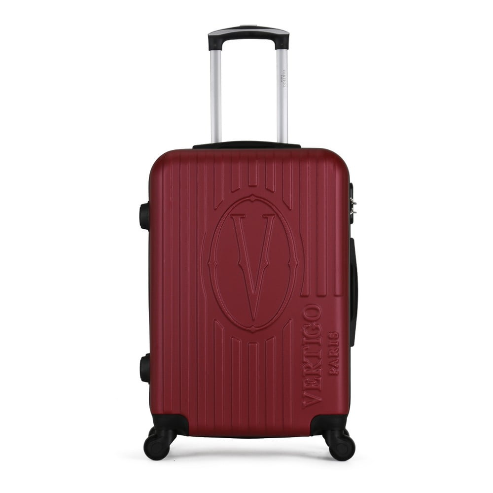 Vínový cestovní kufr na kolečkách VERTIGO Valise Grand Cadenas Integre Malo, 41 x 62 cm
