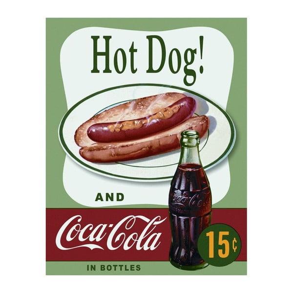 Plechová cedule Hot Dog & Cola, 30x40 cm