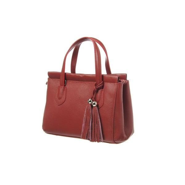 Kožená kabelka Glam Red