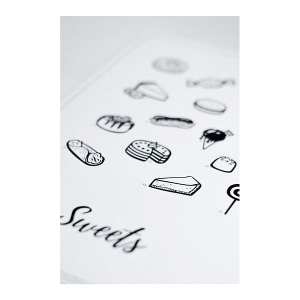 Plakát Follygraph Sweets, 21x30cm