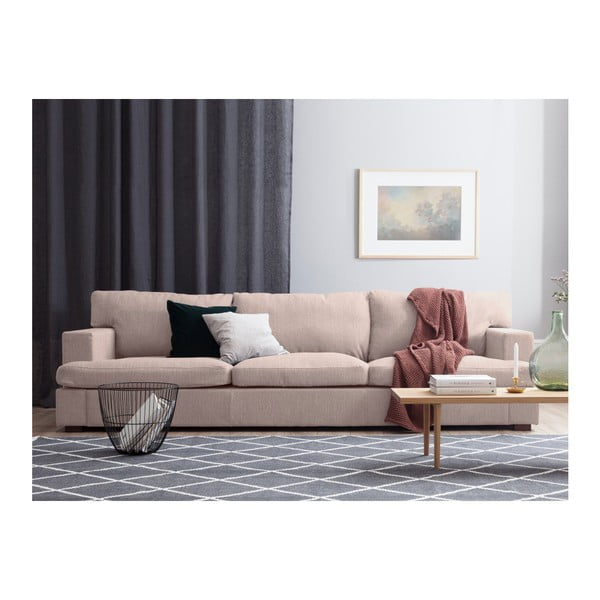 Světle růžová trojmístná pohovka Windsor & Co Sofas Charles