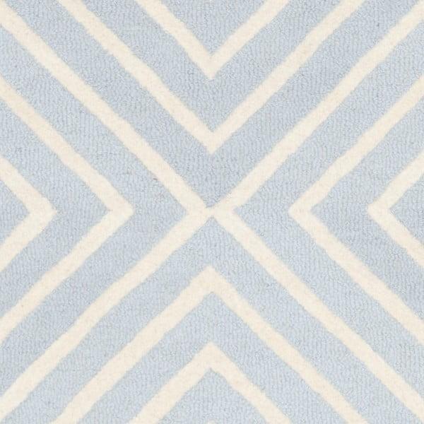 Vlněný koberec Prita Light Blue, 152x243 cm